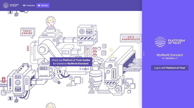 MyWorld home page.